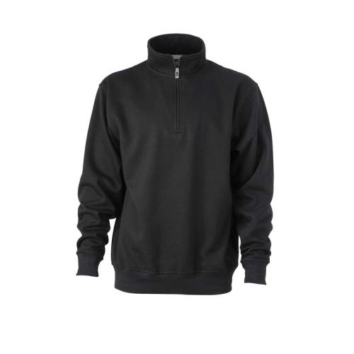 JAMES & NICHOLSON JN831 men's sweatshirt, black, size XXL