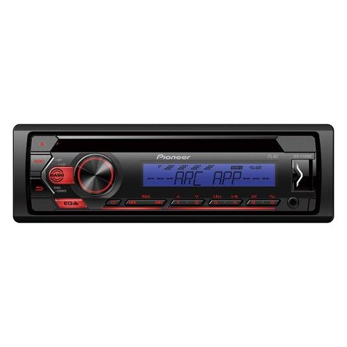 Pioneer DEH-S120UBB , 1DIN RDS-Autoradio mit roter Tastenbeleuchtung