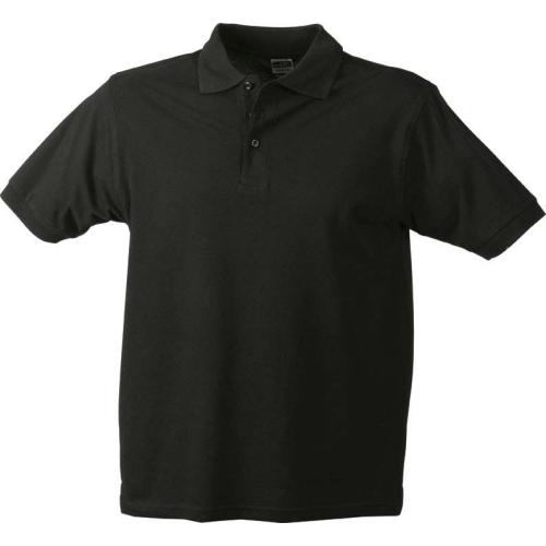 JAMES & NICHOLSON JN070 men's polo shirt, black, size XL