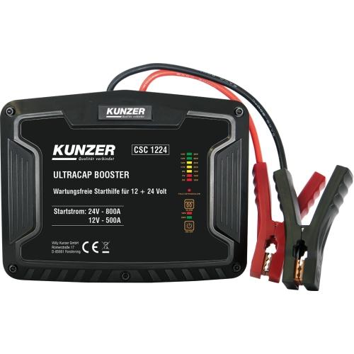 KUNZER Wartungsfreie Starthilfe für 12 + 24 V mit Ultrakondensatortechnik CSC 1224