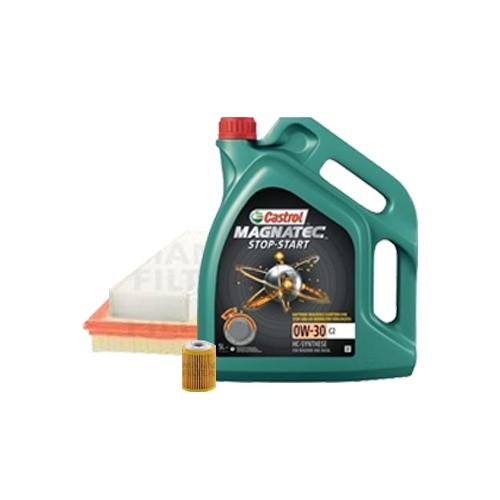 Inspektionskit Ölfilter, Luftfilter und Innenraumfilter + Motoröl 0W-30 5L