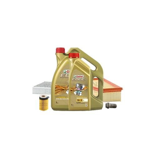 Inspektionskit Ölfilter, Luftfilter und Innenraumfilter + Motoröl 6l 0W-40