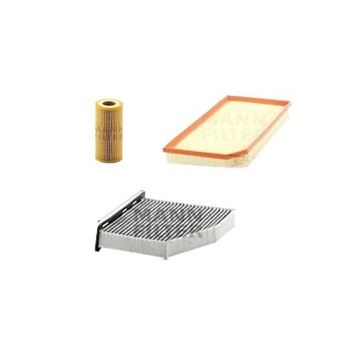MANN-FILTER Filter Satz, Öl, Luft- und Innenraum- Aktivkohle Filter VSF0008MAN