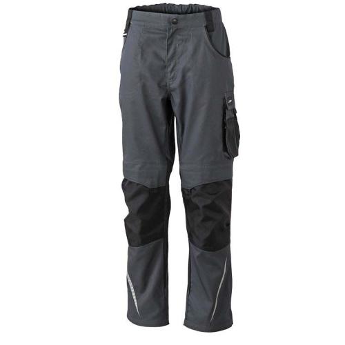 JAMES & NICHOLSON JN832 work trousers, carbon / black, size 54