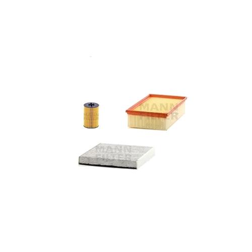 MANN-FILTER Filter Satz, Öl, Luft- und Innenraum- Aktivkohle Filter VSF0023MAN