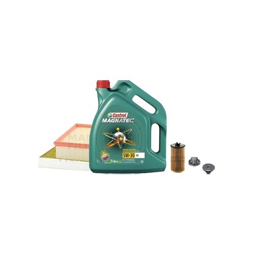 Inspektionskit Ölfilter, Luftfilter und Innenraumfilter + Motoröl 5l 5W-30 DX