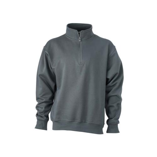 JAMES & NICHOLSON JN831 men's sweatshirt, carbon, size L