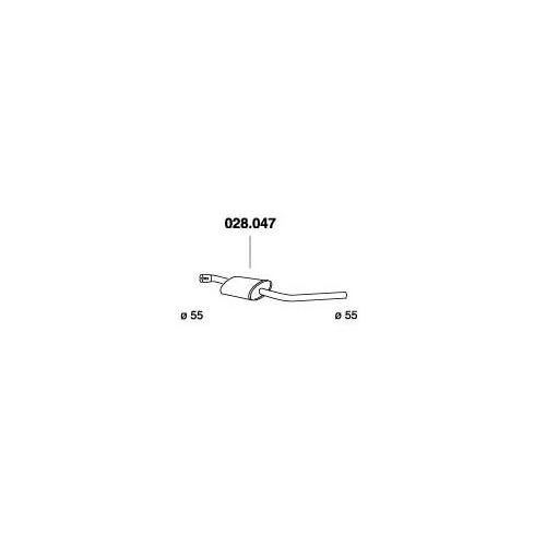 PEDOL 028.047 center silencer