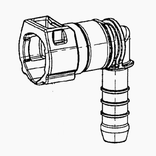 Kunzer 3 Winkel SAE-Stecker 7,89-8 90 Grad KLR08WS