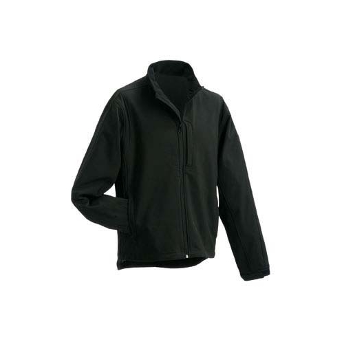 JAMES & NICHOLSON JN135 men's softshell jacket, black, size XL
