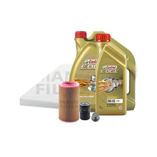 Inspektionskit Ölfilter, Luftfilter und Innenraumfilter + Motoröl 0W-40 6L