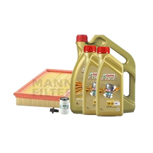 Inspektionskit Ölfilter, Luftfilter + Ablassschraube und Motoröl 5W-30 7L