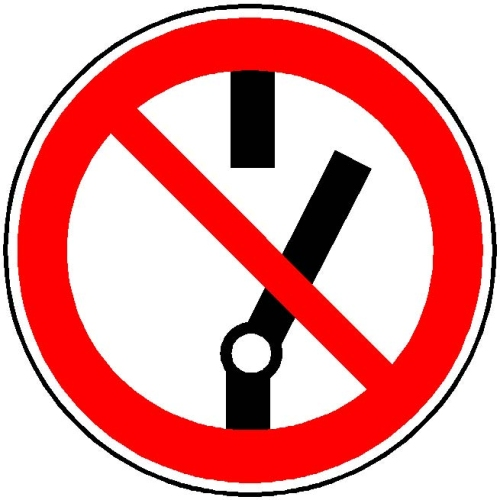 """SIGN SAFETY 110.A6253 Prohibition sign """"Switching prohibited"""", aluminum, Ø 10 cm"""