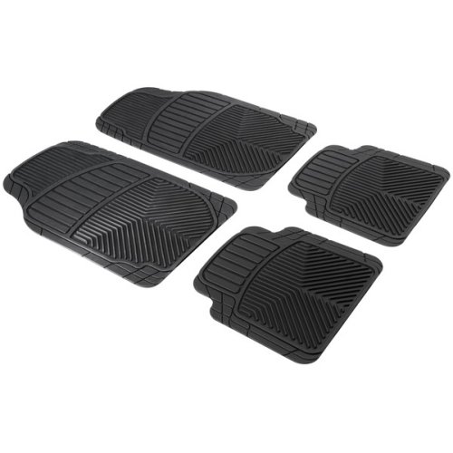 Priscus rubber mat set, 4 pieces, can be cut to fit