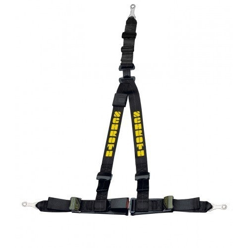 Schroth Safety belt Rally 3ASM black / yellow static harness right 10510