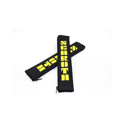 Schroth Safety 2 Stück 2 Zoll 50mm Gurtpolster Flock schwarz Gurtschoner 00109