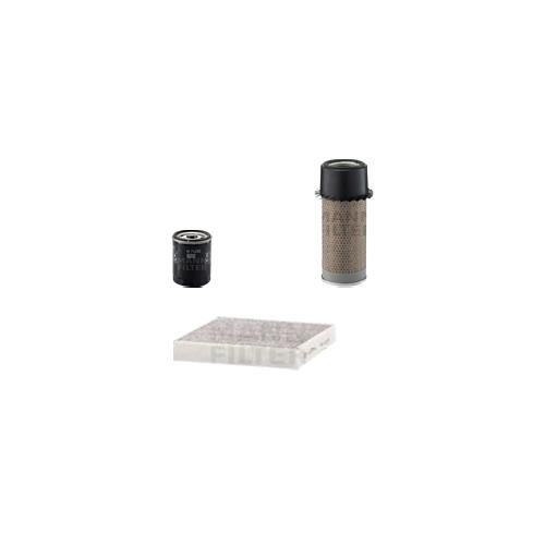 MANN-FILTER Filter Satz, Öl, Luft- und Innenraum- Aktivkohle Filter VSF0046MAN
