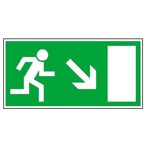Sign Safety Fluchtwegschild langnachleuchtend Rettungsweg rechts abwärts 15.0023