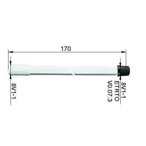 ALLIGATOR 9-382904 Ventilverlängerung, Länge 170 mm, Kunststoff