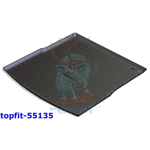 RENSI 55135 Kofferraumschalenmatte Gewicht 1500 g