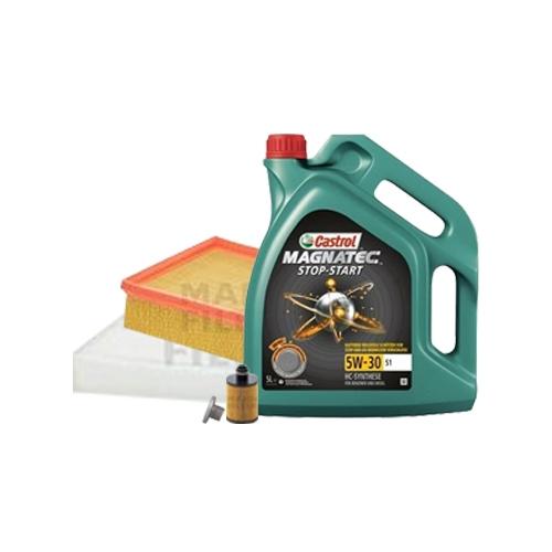 Inspektionskit Ölfilter, Luftfilter und Innenraumfilter + Motoröl 5W-30 S1 5L