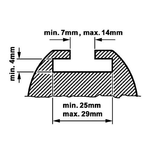 KAMEI 0 52004 10 Ergänzungssatz Profiltyp B-Schiebe Adapter, 20mm Nutenprofil