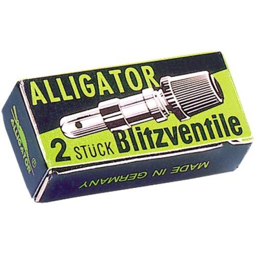ALLIGATOR 110002 Blitzventil, Fahrradventil, Inhalt 2 Stück
