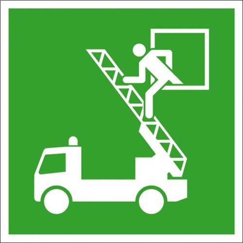"""SIGN SAFETY 38.A2040 Hinweisschild """"Rettungsausstieg"""", Folie, 15cm x 15cm"""