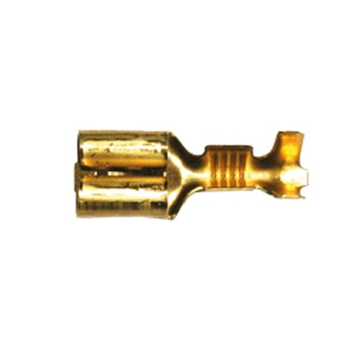 Flachsteckhülse mit Raste 6,3 x 0,8 mm unisoliert 6,3 x 0,8 mm 1 Satz (7 Stück)