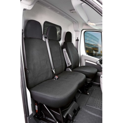 Seat covers for Fiat Ducato single seat and double bench, front