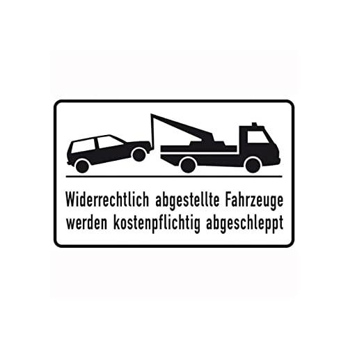 Sign Safety Parkverbotschild Alu 400x250 mm Widerrechtlich 11.5174