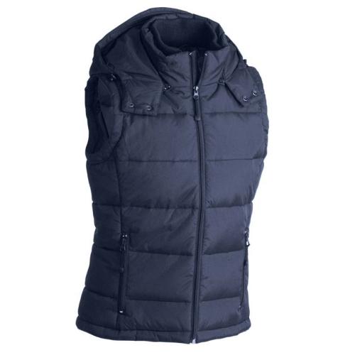 JAMES & NICHOLSON JN1004 men's quilted vest, work vest, navy, size L