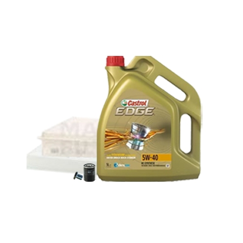Inspektionskit Ölfilter, Luftfilter und Innenraumfilter + Motoröl 5W-40 5L