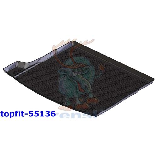 RENSI Kofferraumschalenmatte Kofferraumboden oben Gewicht 1200 g