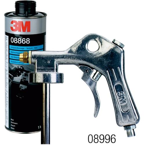3M 08868 Steinschlagschutz mit Struktur, Inhalt 1000 ml, schwarz
