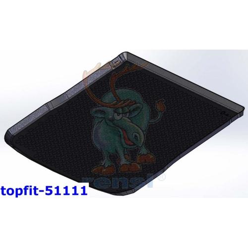 RENSI 51111 Kofferraumschalenmatte mit erhöhtem Ladeboden Gewicht 1200 g
