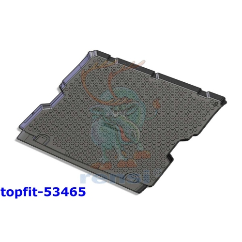 RENSI 53465 Trunk shell mat with 3rd row of seats, recessed, weight 1400 g