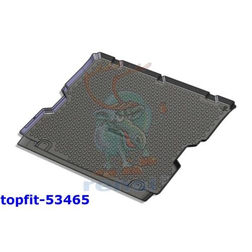 RENSI 53465 Kofferraumschalenmatte mit 3. Sitzreihe versenkt Gewicht 1400 g