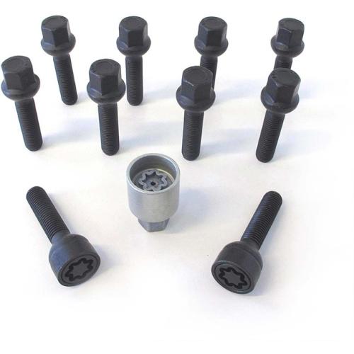 H&R Felgenschloss Satz B1454507ASET, M14x1,5mmx45mm, Kugelbund beweglich R14