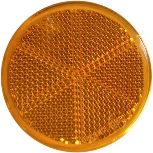 FRIELITZ 014000411-VP 2 x Seitenrückstrahler Ø 60 mm, gelb, zum Kleben