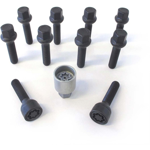 H&R Felgenschloss Satz B1253501SET, M12x1,5mmx35mm, Kegelbund 60°