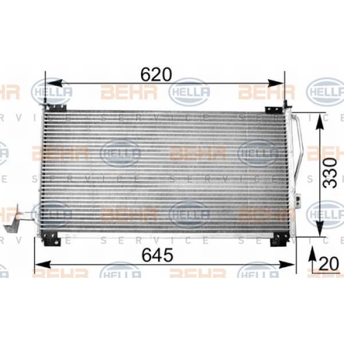HELLA 8FC 351 038-541 Kondensator ohne Trockner