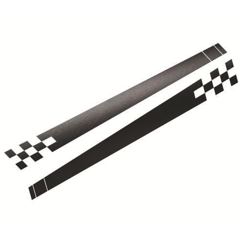 Foliatec CAR DESIGN STICKER RACING 33930 schwarz matt