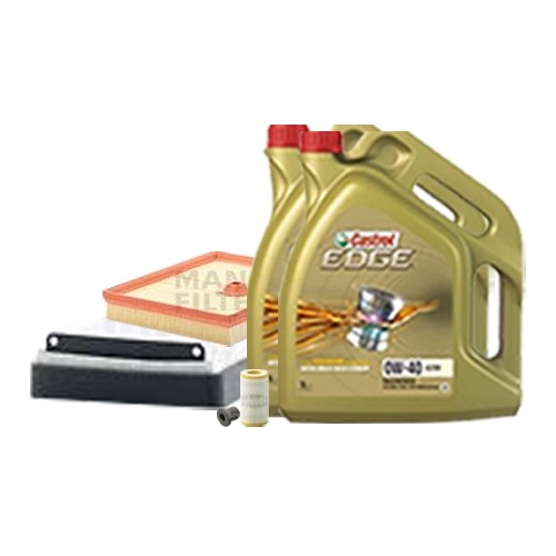 Inspektionskit Ölfilter, Luftfilter und Innenraumfilter + Motoröl 0W-40 10L