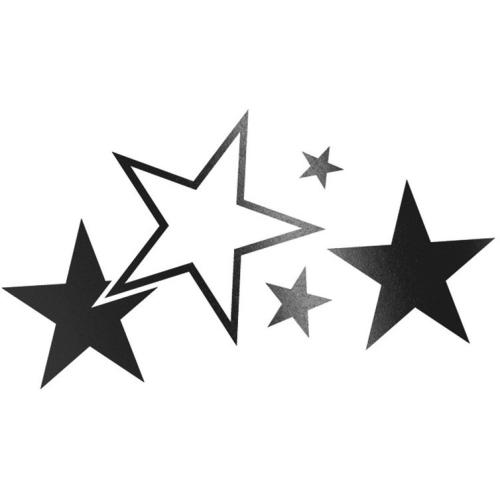 Foliatec CAR DESIGN STICKER Stars 33922 schwarz matt