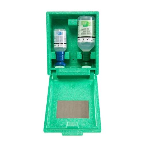 PLUM 4789 emergency eye station, incl. 2 bottles (500ml, 200ml), wall box