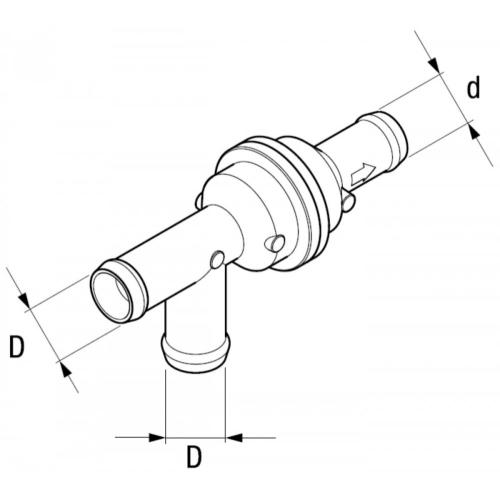 EBERSPÄCHER 221000100900 check valve, Ø 3x20 mm