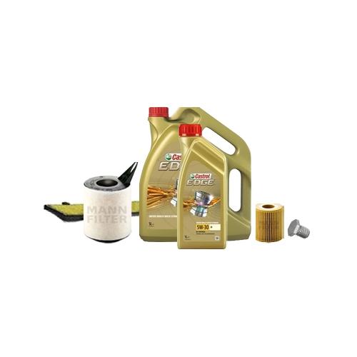 Inspektionskit Ölfilter, Luftfilter und Innenraumfilter + Motoröl 6l 5W-30 M