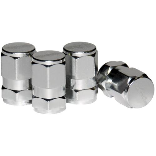 Foliatec AIRPCAPS VALVE CAPS HEXAGON 32856 aluminum silver anodized