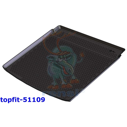 RENSI 51109 Kofferraumschalenmatte tiefer Kofferraumboden Gewicht 1200 g